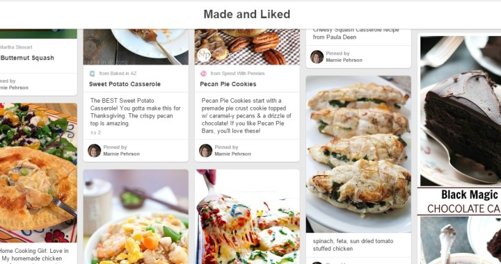 made and liked recipes