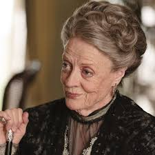 Maggie Smith playing Countess of Grantham on Downton Abbey